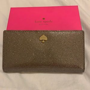 Authentic Kate Spade Silver Glitter Wallet - New!